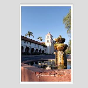 Santa Barbara Mission Fou Postcards (Package of 8)