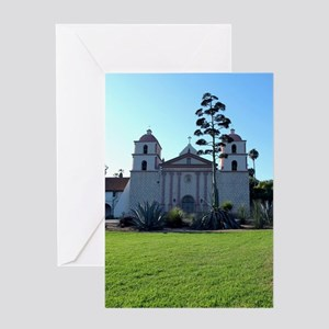 Santa Barbara Mission Greeting Card