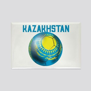 Kazakhstan Football Rectangle Magnet