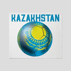 Kazakhstan Football Throw Blanket