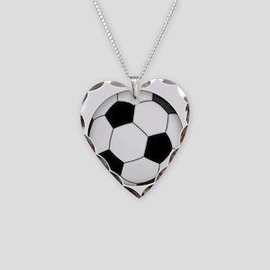 Futbol (Soccer) Ball Necklace Heart Charm