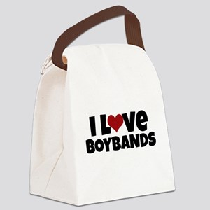 I Love Boybands Canvas Lunch Bag