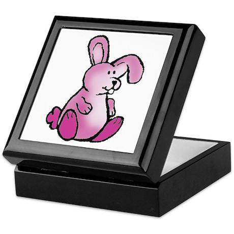 Magenta Bunny Rabbit Keepsake Box