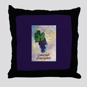 Cabernet Sauvignon Wine Throw Pillow