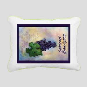 Cabernet Sauvignon Wine Rectangular Canvas Pillow