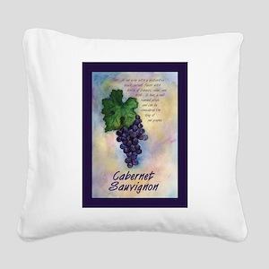 Cabernet Sauvignon Wine Square Canvas Pillow