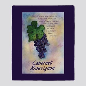 Cabernet Sauvignon Red Wine Grapes Throw Blanket