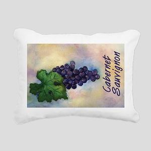 Cabernet Sauvignon Wine Art Canvas Pillow