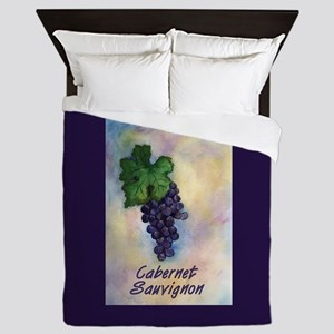Cabernet Sauvignon Wine Art Queen Duvet