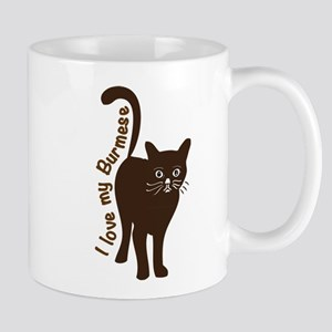 i love my burmese cat Mugs
