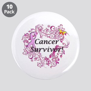 "Real Men Wear Pink 3.5"" Button (10 pack)"