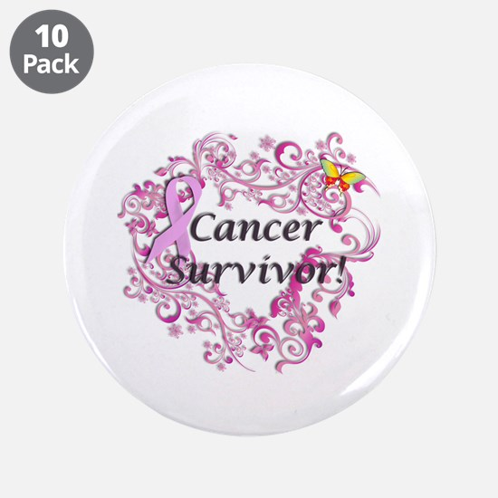 """Real Men Wear Pink 3.5"""" Button (10 pack)"""