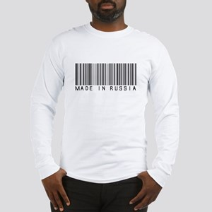 (Bar Code) Made in Russia Long Sleeve T-Shirt