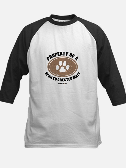 Crested Malt dog Kids Baseball Jersey