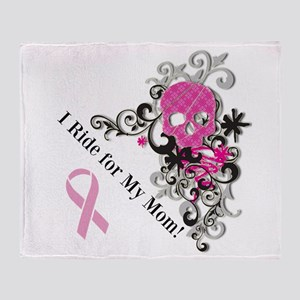 Bikers for Breast Cancer Throw Blanket