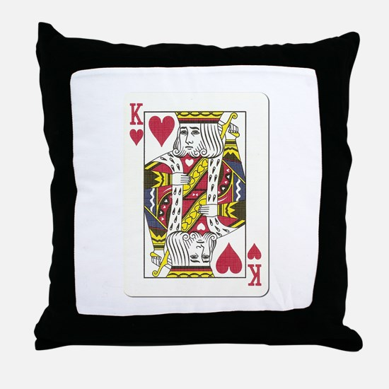 King of Hearts Throw Pillow