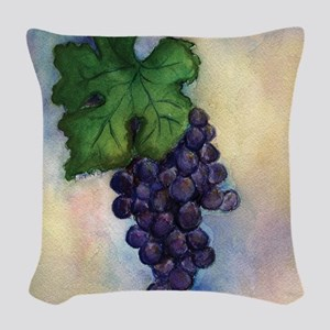 Cabernet Sauvignon Wine Woven Throw Pillow