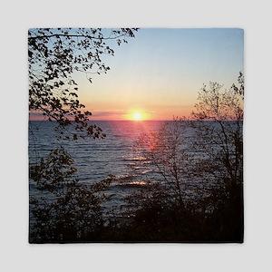 Sunset Scenery Queen Duvet