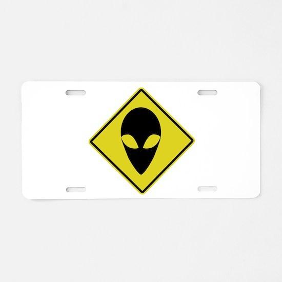 WARNING SIGN SYMBOL.png Aluminum License Plate