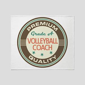 Volleyball Coach Vintage Throw Blanket