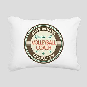 Volleyball Coach Vintage Rectangular Canvas Pillow