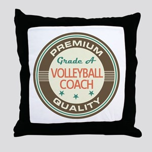 Volleyball Coach Vintage Throw Pillow