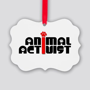 Animal Activist Picture Ornament