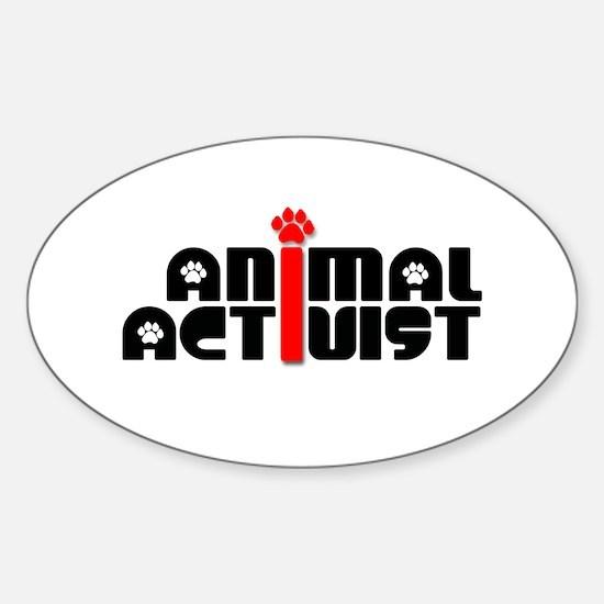 Animal Activist Sticker (Oval)