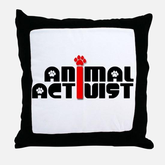 Animal Activist Throw Pillow