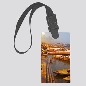Ganges River Large Luggage Tag