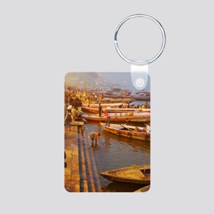 Ganges River Aluminum Photo Keychain