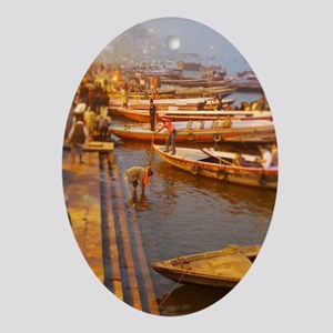 Ganges River Oval Ornament