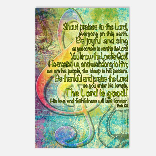 Be Joyful and Sing! Postcards (Package of 8)