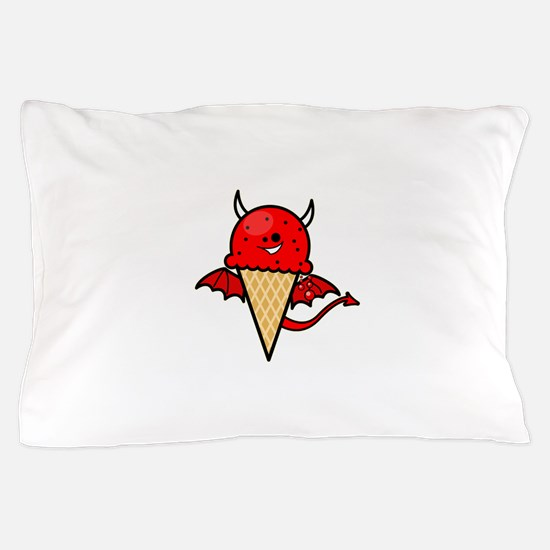 Devil Ice Cream Cone Pillow Case