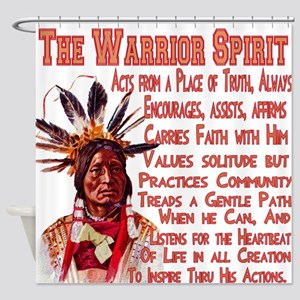 Warrior Spirit Shower Curtain