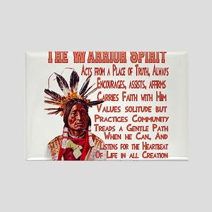 Warrior Spirit Rectangle Magnet