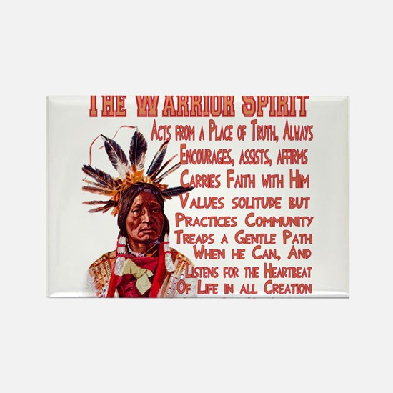 Warrior Spirit Rectangle Magnet