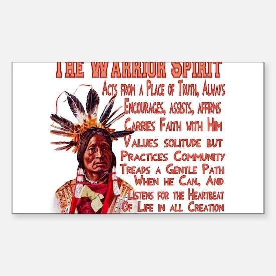 Warrior Spirit Sticker (Rectangle)