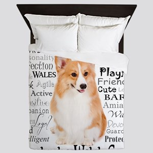 Corgi Traits Queen Duvet