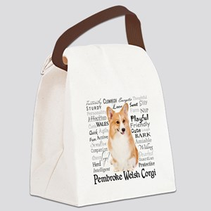 Corgi Traits Canvas Lunch Bag