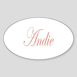 Cursive Andie Oval Sticker