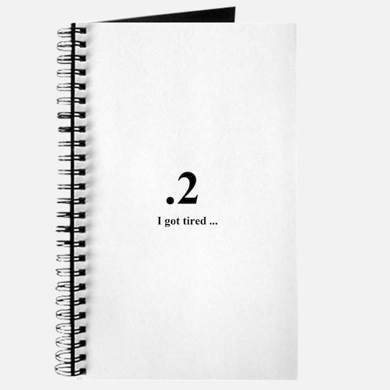 I got tired Journal