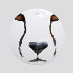 Cheetah Round Ornament