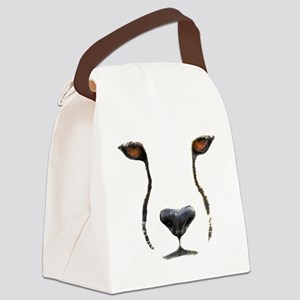 Cheetah Canvas Lunch Bag