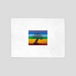 Chakra Love Tree Art 5'x7'Area Rug