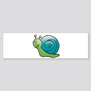 Green and Turquoise Snail Bumper Sticker