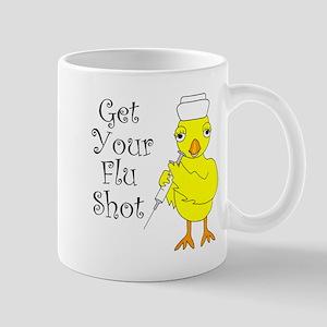 Nurse Flu Shot Chick Mugs