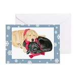 Yellow Black Labs with Scarf Holiday Cards (10)