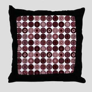 Purple Swirly Dot Pattern Throw Pillow