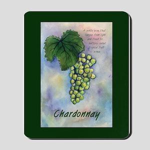 Chardonnay Wine Art Mousepad